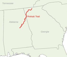 Appalachian Trail In Georgia Map.My Pinhoti Trail Thru Hike Whitewater S Long Distance Trail Journeys